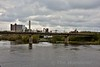 Bord na Mona Railway Bridge over the Shannon at Shannonbridge Power Station. Track Maintenance was being carried out. Thurs 14.04.16