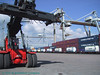 Reachstacker Belview Port.