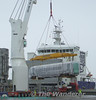 22000 DMU being lifted off the ship at Belview Port. It is either 22135 or 22136 being lifted. Mon 07.07.08