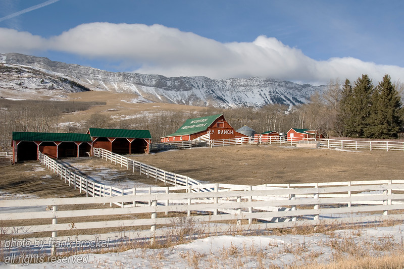 A ranch below the Livingston Range in Southern Alberta