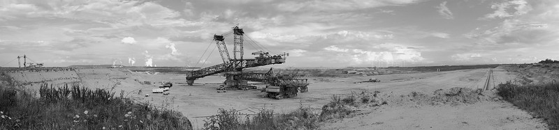 Panoramic view of excavator 258.