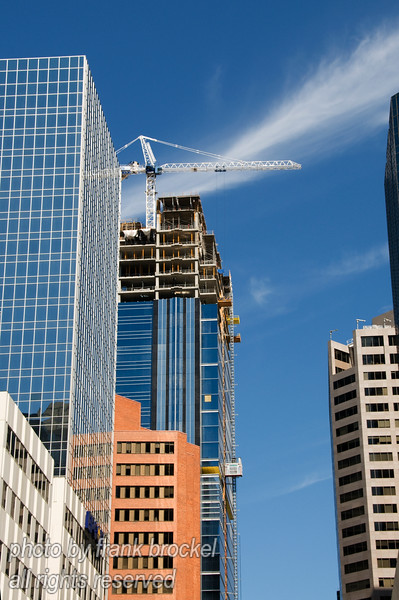 Tower construction in downtown Calgary