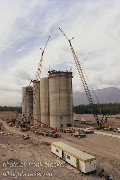 Construction of Silos at the Line Creek Coal Mine in S.E. British Columbia