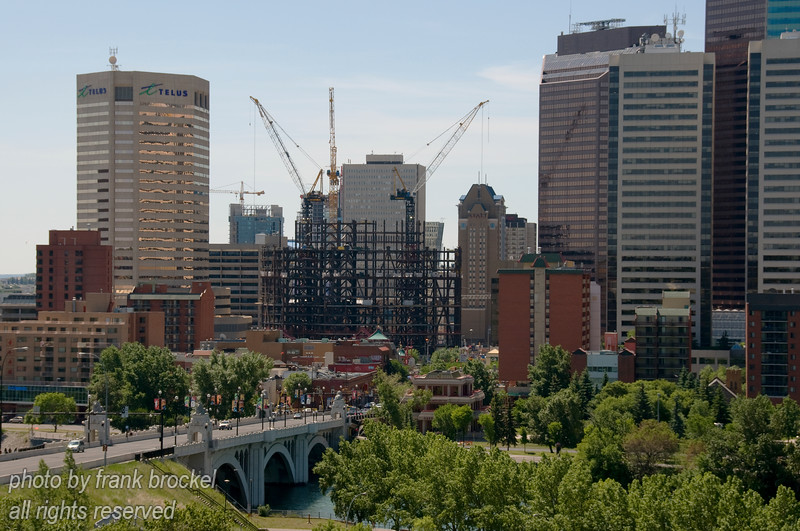 The Bow Tower under construction in downtown Calgary