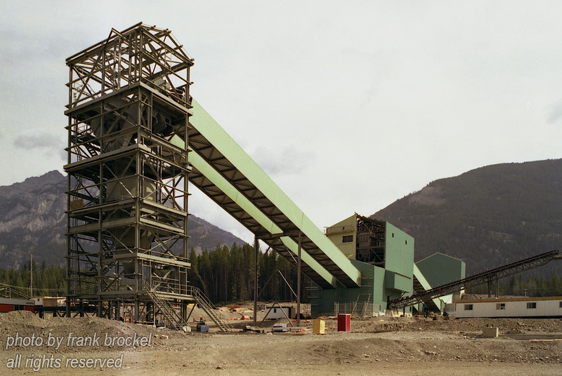 Construction of loading terminal at the Line Creek Coal Mine in S.E. British Columbia