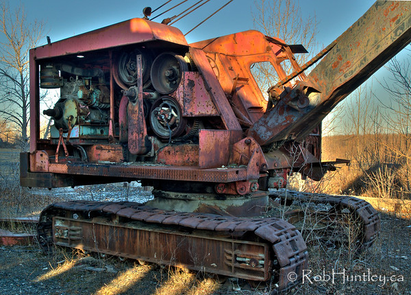 Abandoned digger at the Marmora Iron Mine.