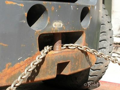 Truck with chain for towing..  © Rob Huntley