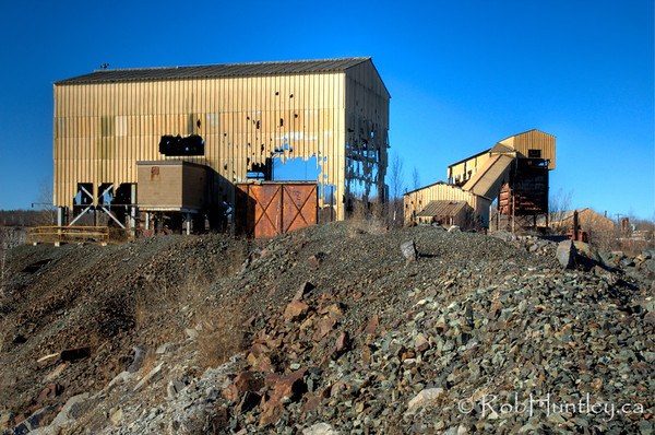 Derelict building at the Marmora Iron Mine,