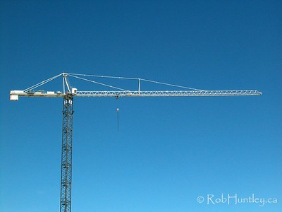 Crane at a construction site..  © Rob Huntley