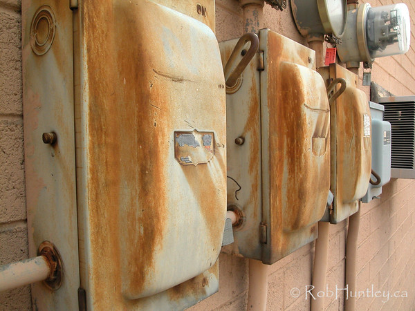 Electrical boxes..  © Rob Huntley
