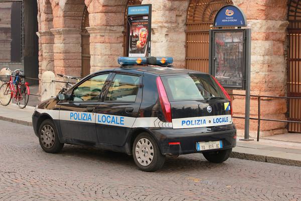 Italy, Verona, Polizia Locale Fiat, Arena