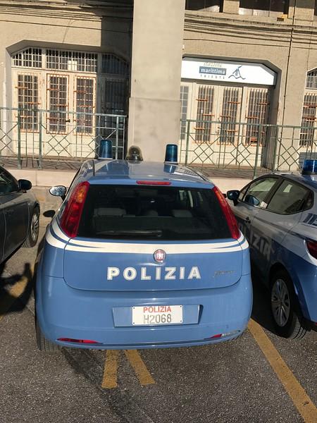Police Car in Trieste, Italy