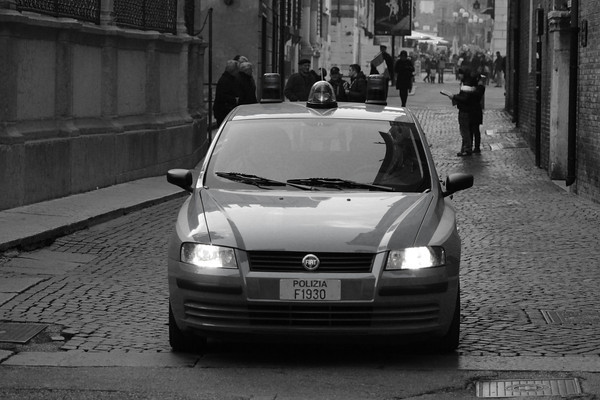 Italy, Verona, Polizia Car