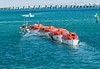 100213 - 1687 Towing a String of Lifeboats - Biscayne Bay - Miami, FL