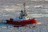 20140202 - 4763 Tug Boat Navigating Frozen Elbe River - Germany