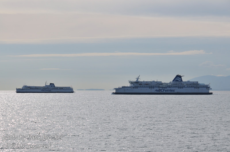 Canadian Ferries crossing the Georgia Strait between Vancouver Island and the Mainland