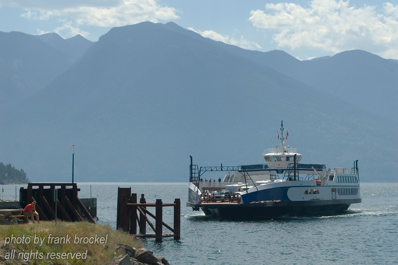 Ferry across Kootenay Lake, B.C., Canada