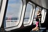 Passengers enjoying the trip aboard the ferry between Tsawassen and Nanaimo, Vancouver Island