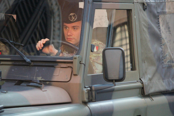Italian Army driver - driving Land Rover