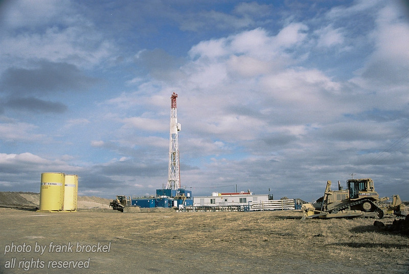 Drilling Rig near High River, Alberta