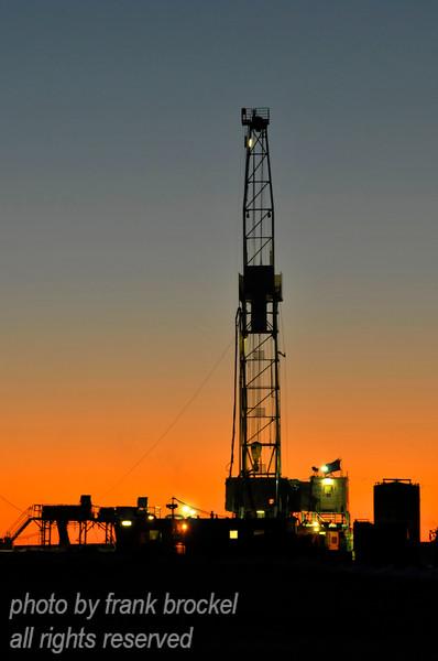 A drill rig operating near the Alberta / Saskatchewan border