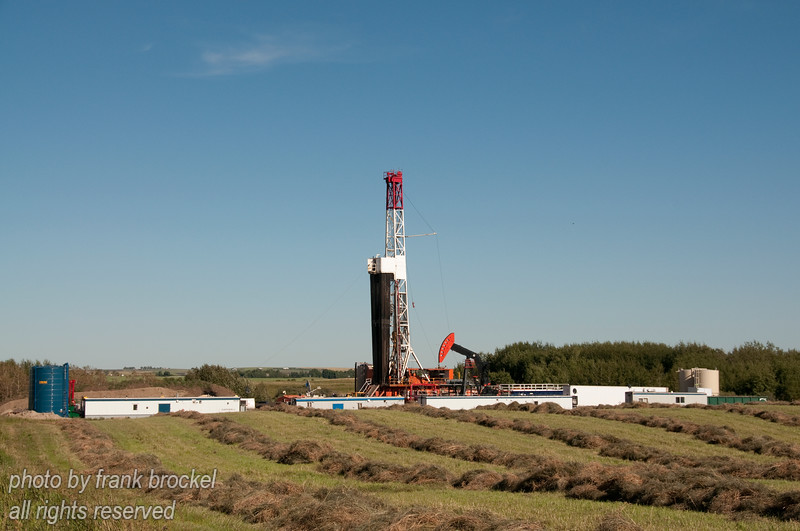 Drill Rig operating north of Calgary, Alberta