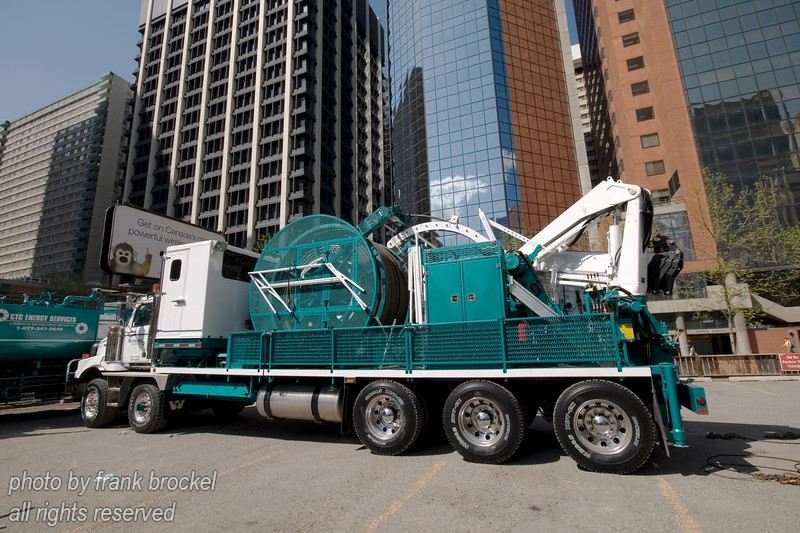 Service Truck by CTC Energy Services of Red Deer, Alberta being exhibited at show downtown Calgary, May 2007