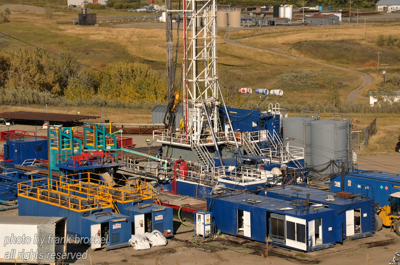 Drill rig in operation at Longview, Alberta