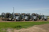 Coiled Tubing Trucks parked at Brooks, Alberta
