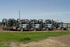 Coiled Tubing Trucks parked at Brooks, Alberta