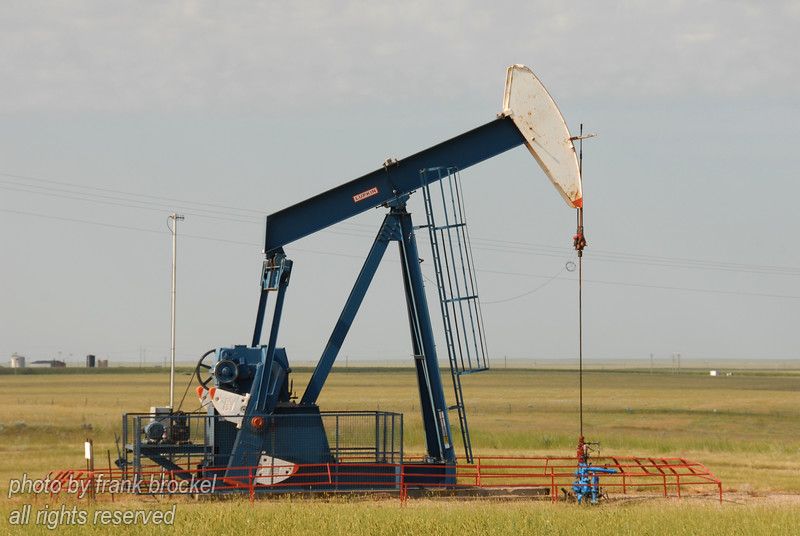 A pumpjack pumping black gold
