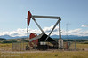 A pumpjack in Albertas foothills