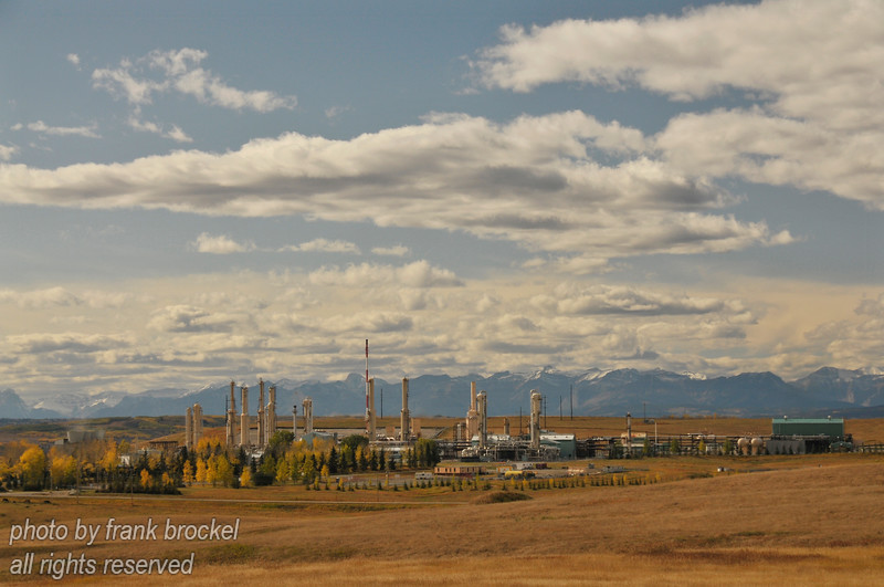 The Jumping Pound Complex, operated by Shell Canada is located about 33 kilometres west of Calgary. Operated by Shell Canada, it supplies Calgary and area with a significant portion of its natural gas heating.