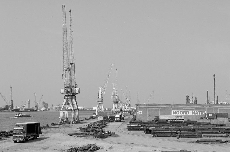 View of Noord Natie, port of Antwerp.