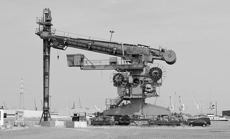 Grain unloader, port of Antwerp.