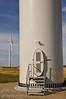 Wind turbines at a wind farm south east of Red Deer, Alberta