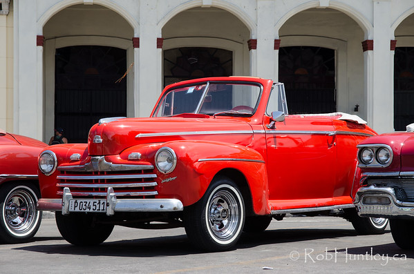 Vintage 1947 Ford Super Deluxe Convertible in Havana, Cuba.