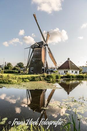 Water mill Stadsmolen Leiden Holland