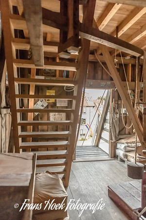 Windmill De Put, Leiden Holland. Interior