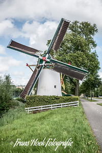 Windmill De Roodenburger molen, Leiden Holland