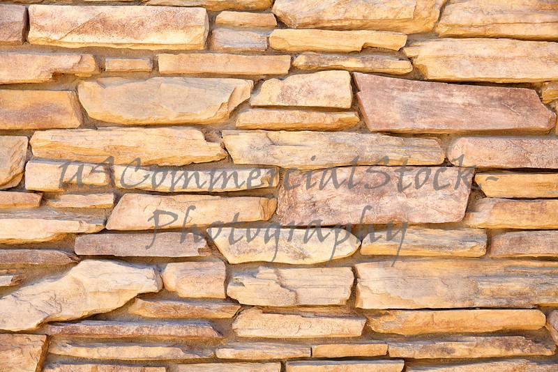 Sedona red rock ledgestone mortar wall