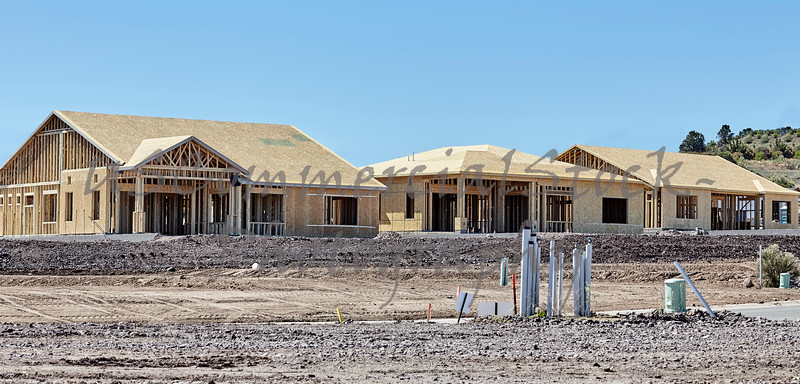 New housing project in progress trades construction industry