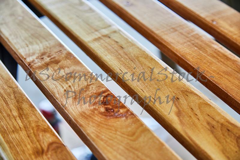 Newly Varnished Wood Slats