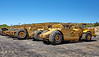 Heavy equipment wheeled motor scrapers