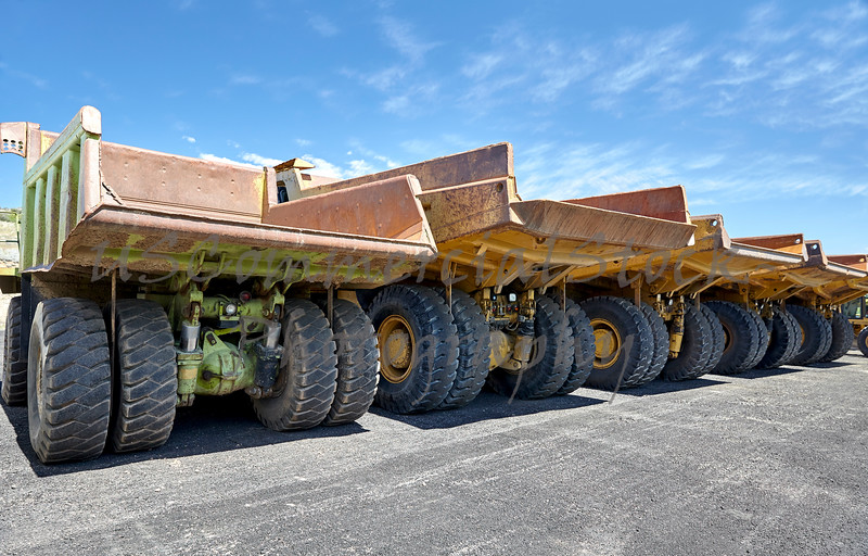 Heavy equipment industrial mining dump trucks