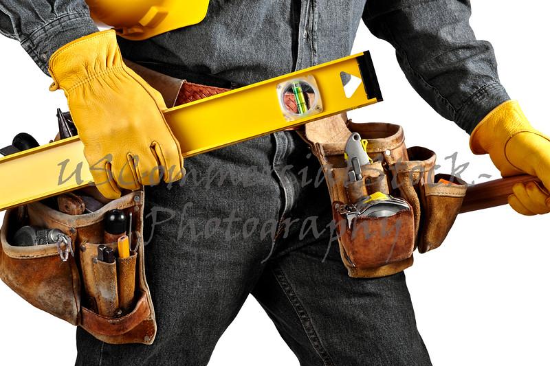 Carpenter wearing Tool Belt