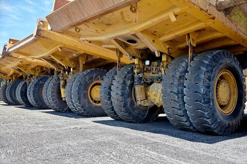 Heavy equipment industrial dump trucks