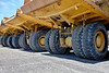 Heavy equipment industrial dump trucks