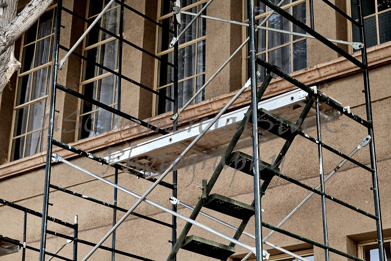 Scaffolding on Front of Building