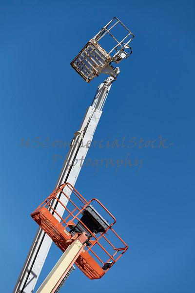 Construction Cranes equipment aerial boom man lifts sky
